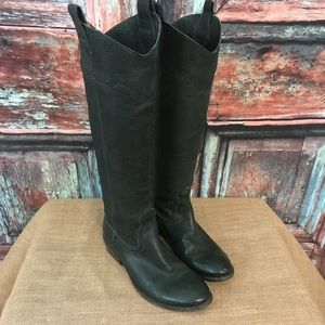 Frye Boots sz 5.5 green leather